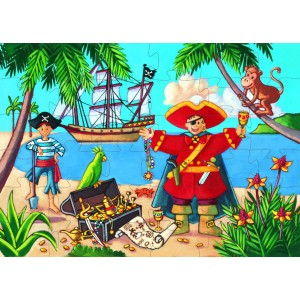 Djeco Pirate & His Treasure Jigsaw