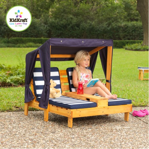 Kidkraft Double Chaise Lounger With Canopy Kidkraft
