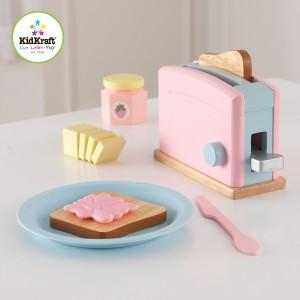 Kidkraft Pastel Wooden toaster set