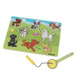 Kidkraft Dog Park Magnetic Wooden Puzzle